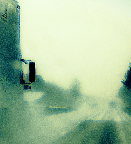 """""""In the rearview mirror"""" Rainy day on the road coming home last Thursday. Rainy Afternoon. Ontheroadhome Travel Photography Riding In The Car Raindrops On My Window 18wheeler Truck Life Highway Bound Bookin Listening To Music"""