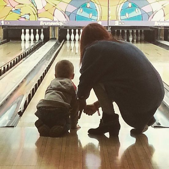 Butlins Bowling Mother And Son Winning