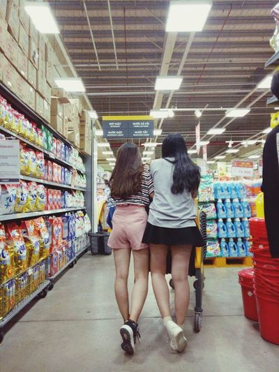 Me And My Friend Pink Color Hair Supermarket Two People Day Feeling Beautiful Light Fleet Of Foot:)))) Shoe Adidas