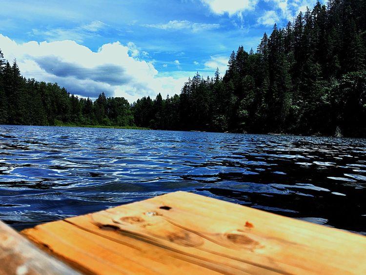 Lake Lakeside Washington Northbend Snoqualmie Dock Evergreen Water Ripples First Eyeem Photo ShotOniPhone6