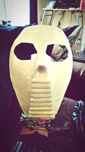 I made a mask of marsking tape... I was bored :) Mask Bored Having Fun Thoughts?  Taking Photos