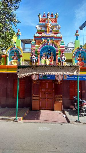 Multi Colored City Cultures Architecture Temple