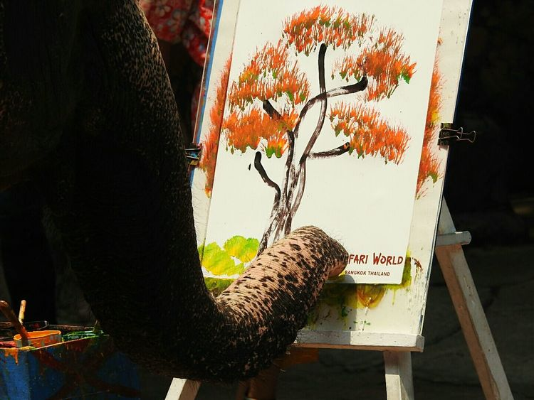 Elephant Painting Tree Oilpaint Elephant ♥