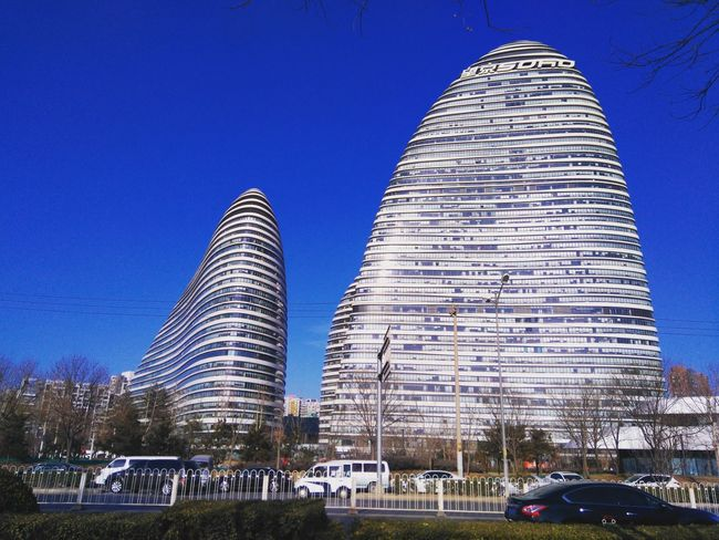 Wang jing Soho blue sky designer Zaha Outdoors