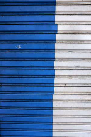 Backgrounds Blinds Blue Close-up Closed Corrugated Iron Day Full Frame No People Outdoors Pattern Protection Shutter Textured  Textures And Surfaces