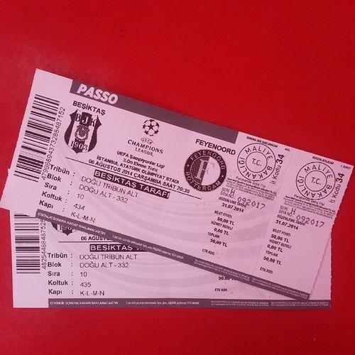 Instalook Instalike Instamood Instamessage like fallowbesiktas çarşı bjk uefa champions league feyenoord ticket BeşiktAŞK ??✌✌