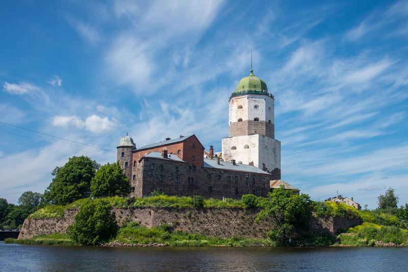 Vuoksi River Against Vyborg Castle