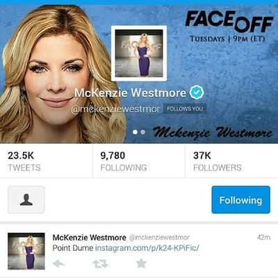 Check out this banner I made for the beautiful @MWestmore host of Syfy 's Faceoff