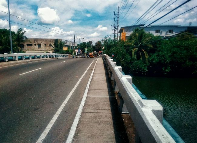 Urban Leading Lines Sky Sky And Clouds Road Roadside Riverside DAGUPAN CITY Pangasinan Mobilephotography Streetphotography