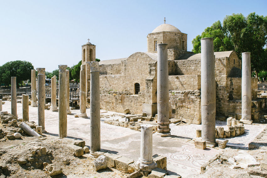 Ancient Civilization Ancient History Ancient Ruins Architecture Ayia Kyriaki Chrysopolitissa Christianity Church Pillars Place Of Worship Religion Ruins Saint Paul Pillar The Past