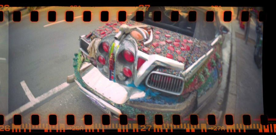 Sprocket Rocket Panorama Lomo800 Artcar Film Sprocket Holes Koduckgirl