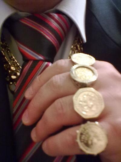 Goldrings Men's Jewellery Tieknot Suit Human Hand