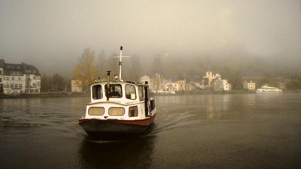 Ferry Fluss Fog Foggy Morning Fähre Mosel Nebel River Schiff Ship
