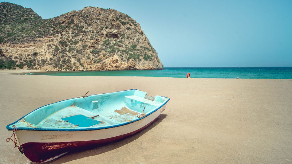 Beach Boat Serenity Tranquil Scene Tranquility Traveling Water Sea Seascape Landscape Landscape_Collection Blue Nature Relaxing Summer Summertime Algeria Colour Of Life