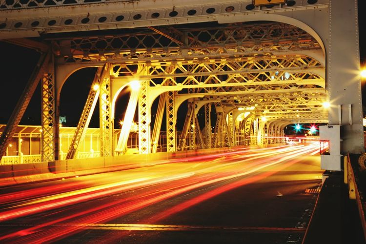 Macombs Dam Bridge, NYC Night Photography Traffic NYC Photography Dynamic