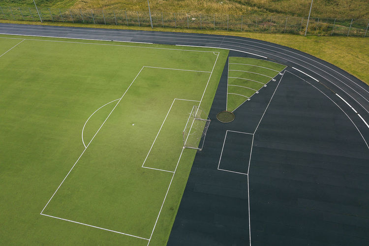Stadium Drone  Stadium Aerial Court Day Drone Photography Grass Green Color Mavic Pro No People Outdoors Playing Field Soccer Soccer Field Sport