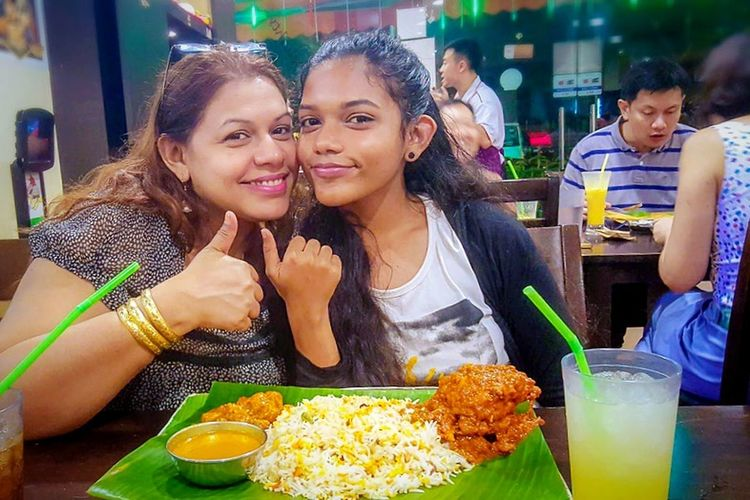 Eating Food Restaurant Food And Drink Table Adult Smiling