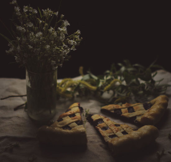 Still life. Pie. Currant pie. Spring still life. Food And Drink Food Freshness Indoors  Sweet Food Table No People Baked Still Life Indulgence Close-up Plant Cookie Temptation Dessert Selective Focus Sweet Flowering Plant Ready-to-eat Flower Snack