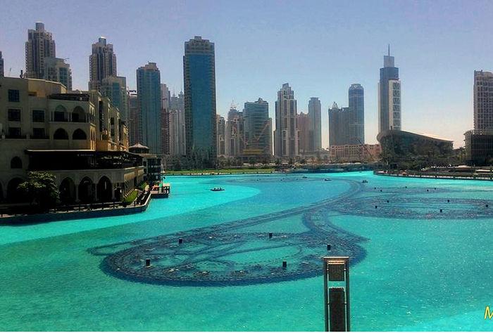 Architecture Dancing Fountain Dubai Dubai Fountain Dubai Mall Outdoors Swimming Pool Travel Destinations Urban Skyline Vacations Waterfront