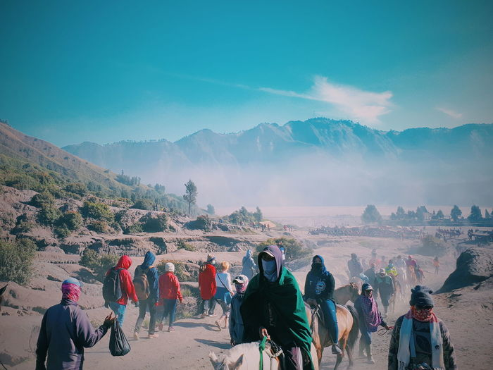 Bromo Mountain Bromo Mountain Bromo Landscape Landscape_photography INDONESIA Indonesiatravel Crowd City Politics And Government Sky Mountain Range Mountain Mountain Road EyeEmNewHere My Best Travel Photo