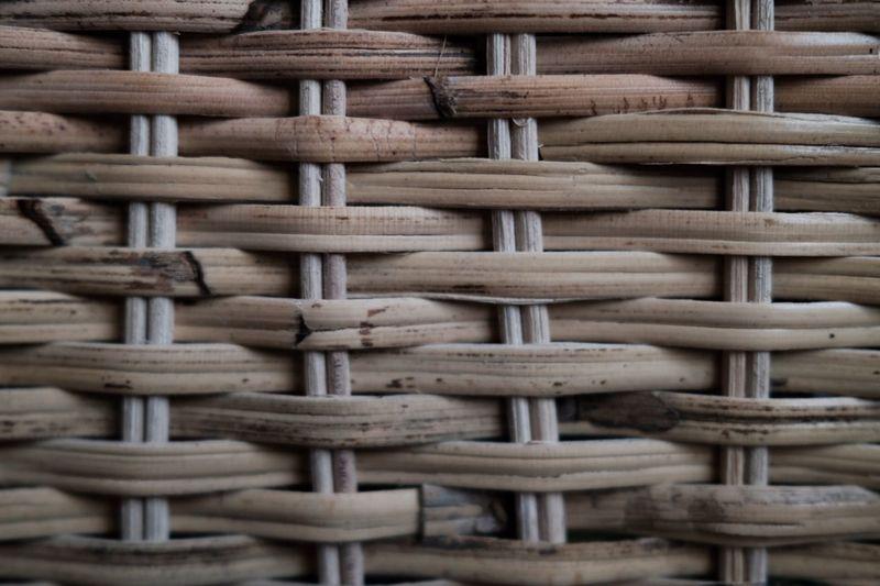 Full frame shot of rattan basket