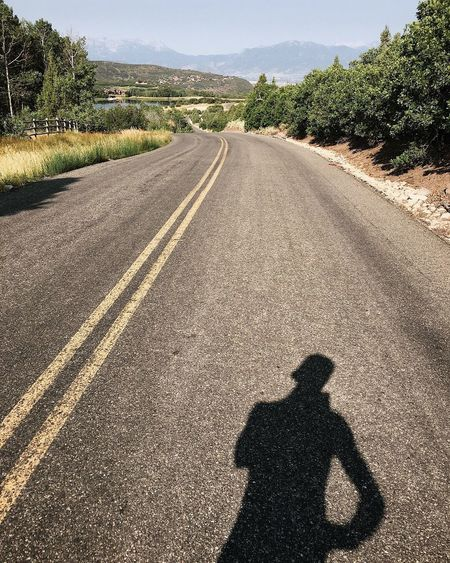 an eight mile run is just a four mile run you have to get yourself out of Summer Country Running Utah Wasatch County Road Transportation Tree Sunlight Nature Plant Shadow