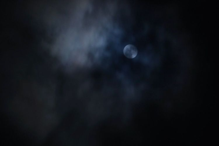Moon Space Night Astronomy Sky Scenics - Nature Tranquility Beauty In Nature Dark Tranquil Scene Nature No People Cloud - Sky Low Angle View Outdoors Space Exploration Idyllic Exploration Planetary Moon