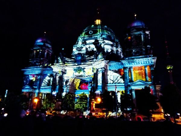 Night Illuminated City Christmas Lights Lights Festival Festival De Luces Luz Ilumination Catedral Cathedral Architecture Berliner Travel Destinations Buildings Architecture Berlin Alemania Germany