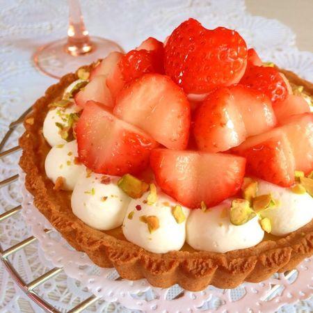 大好きな苺のタルトケーキ♡ Yummy♡ Homemad Homemade Sweets Strawberry Torta Sweet Cake