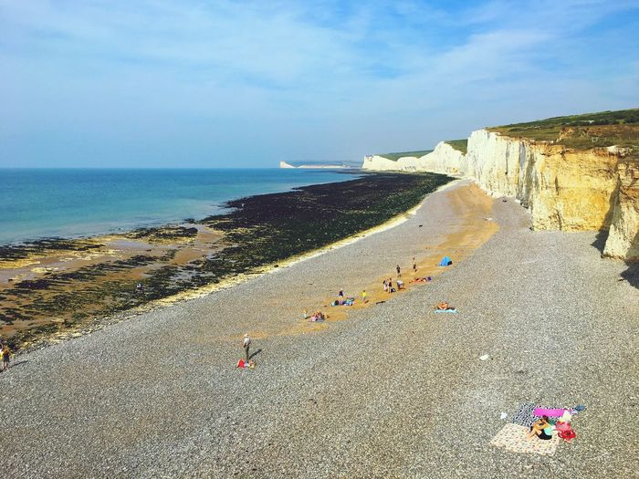 Birling Gap Sussex Cliff Beach Shore Sand Sea Beauty In Nature South Downs Way