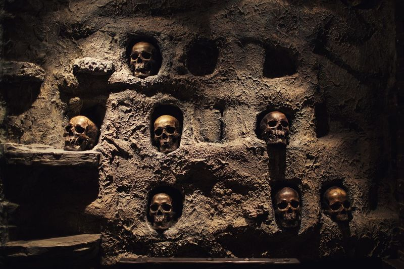No People Day Spooky Indoors  Architecture Ancient Civilization Close-up Skull