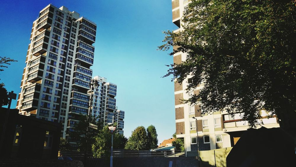Tower Block  London Urbanphotography Housing Estate Architecture Summer Street Photography Londonlife Blue Sky