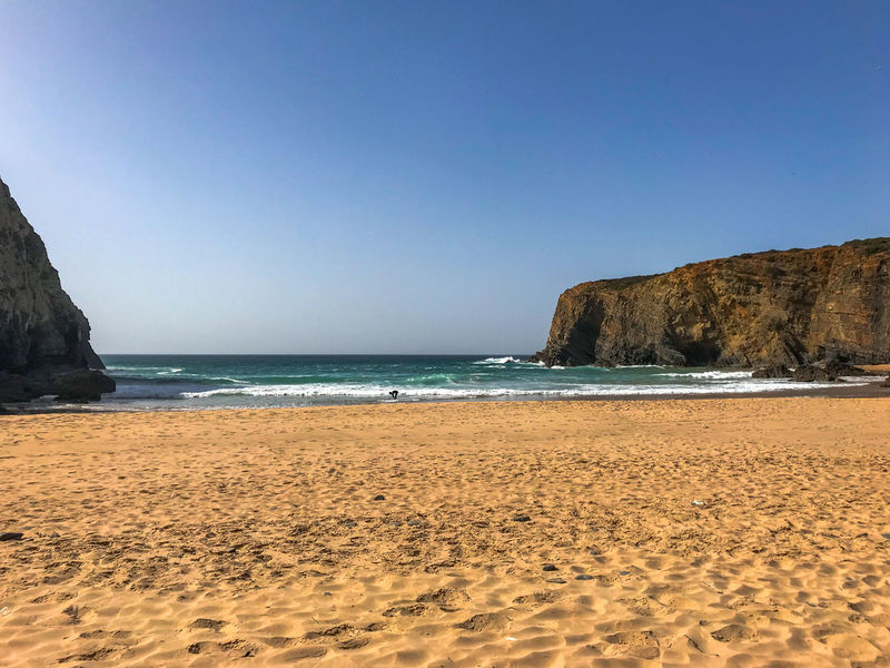 Clear Sky Nature Nature Photography Portugal Tranquility Travel Travel Photography Traveling Beach Beauty In Nature Blue Sky Cavaleiro Horizon Over Water Nature_collection Naturelovers Ocean Photography Sand Scenics - Nature Sea Sea And Sky Sky Tranquil Scene Travel Destinations Water