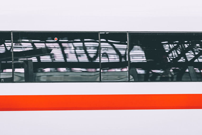 Ice Reflection Station Architecture Blurred Motion Bridge Building Exterior Built Structure City Connection Day Intercityexpress Metal Mode Of Transportation Motion Nature No People Outdoors Public Transportation Railing Sky Train Train Station Transportation Travel