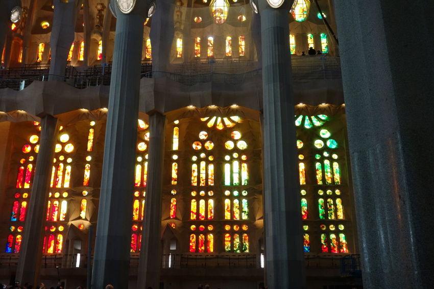 Barcelona Church Gaudi Sagrada Familia Stained Glass