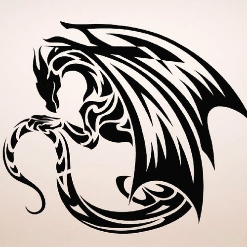 tattoo. dragon.