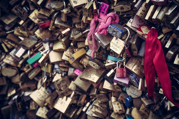 France Love Paris Pont Des Arts Travel Lock No People Tourism Valentines Day