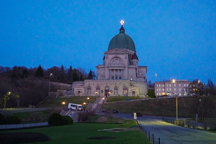 Architecture Building Exterior Built Structure Clear Sky Dome Illuminated Low Angle View Lowlight Nature Night No People Oratory Outdoors Saint Joseph Santuario Santuary Sky St Joseph St Joseph Oratory Travel Destinations Tree