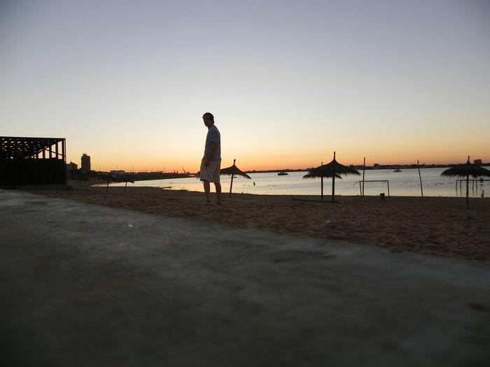 Costanera Man Alone Sky Sunset