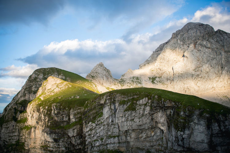 Beauty In Nature Cliff Cloud - Sky Eroded Extreme Terrain Geology Hills Majestic Mountain Mountains Nature Non-urban Scene Outdoors Physical Geography Remote Rock Rock - Object Rock Formation Rocky Rocky Mountains Scenics Sky Tranquil Scene Tranquility Travel Destinations