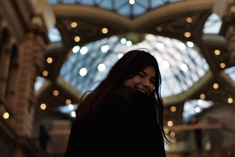 Shopping Architecture Bokeh Casual Clothing Focus On Foreground Illuminated Mall One Person Standing Young Women