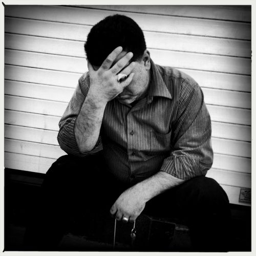 """""""When you are sorrowful look again in your heart, and you shall see that in truth you are weeping for that which has been your delight."""" -Khalil Gibran Streetphotographygraphy Blackandwhite The Street Photographer - 2014 EyeEm Awards The Moment - 2014 EyeEm Awards"""