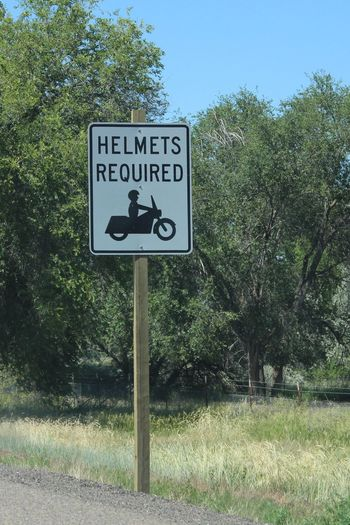 Guidance Helmets Helmets Required Information Interstate Views Motorcycles Road Sign Roadtrip Roadtrip Signs Sign Warning Sign
