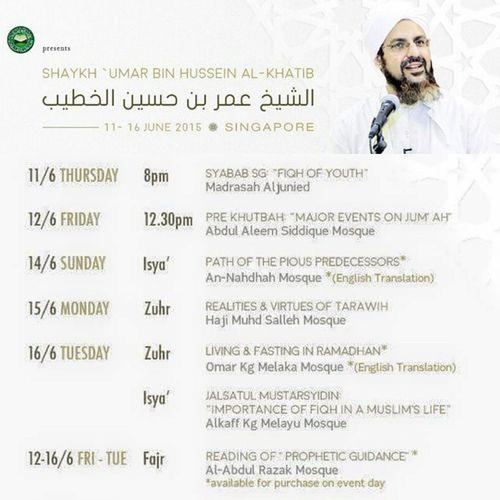 Before coming into Ramadan, 11-16 June 2015... Masha'Allah tabarakallah.. Mustgo Letsgo Gojer Veryveryvery