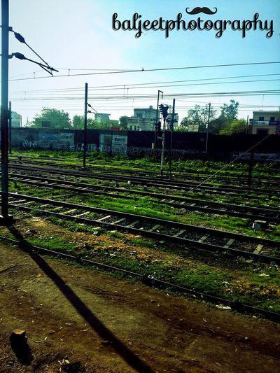 Train Tracks Amritsar Railwaystation Punjab Daytime Goodday Beautiful Mornings Baljeetphotography Colours Of Nature