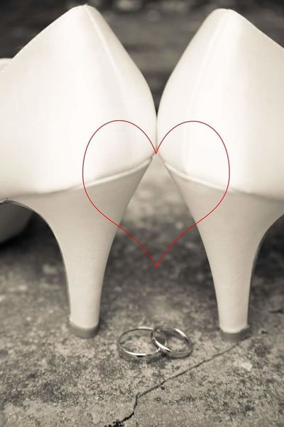 Close-up Focus On Foreground Weddingphotography Weddingshoes Weddingday  Weddingrings
