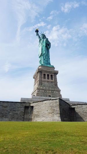 Statue Travel Destinations Female Likeness Architecture Cloud - Sky Tourism Travel Monument Sky History Outdoors Day Vacations Sculpture Built Structure No People New York City New York Liberty Island Liberty Statue Libertystatue  City Building Exterior Statue Of Liberty Lady Liberty My Love💖