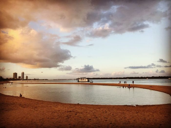 Sea Water Sky Cloud - Sky Beach Scenics Nature Beauty In Nature Nautical Vessel Tranquil Scene City Day Outdoors Shotoniphone7plus