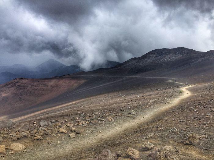 Haleakala #4 Volcano Maui Cloud - Sky Sky Mountain Environment Nature Scenics - Nature Beauty In Nature Landscape Sand Desert Mountain Range Climate Outdoors Overcast Non-urban Scene