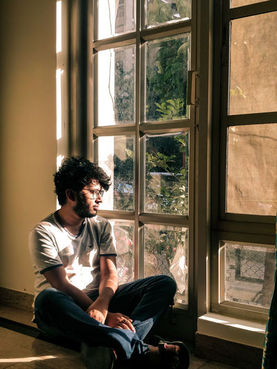 love Beautiful Love Of My Life Serene Tranquility Sitting Looking Through Window Window Domestic Room Inspiration Individuality Sunlight Portrait Thoughtful Thinking Pretty Asian  Day Dreaming Contemplation Introspection Sitting On Floor Suave My Best Photo